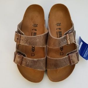 Birkenstock Arizona Tobacco Leather Sandals 36